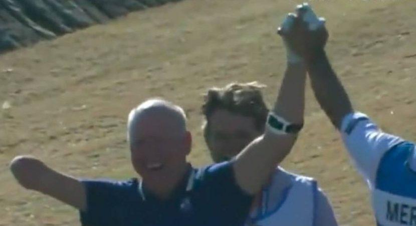 Golfista que nació con un brazo hizo 'hoyo en uno'