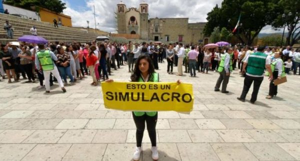 Se suma Oaxaca a macro simulacro el 20 de enero