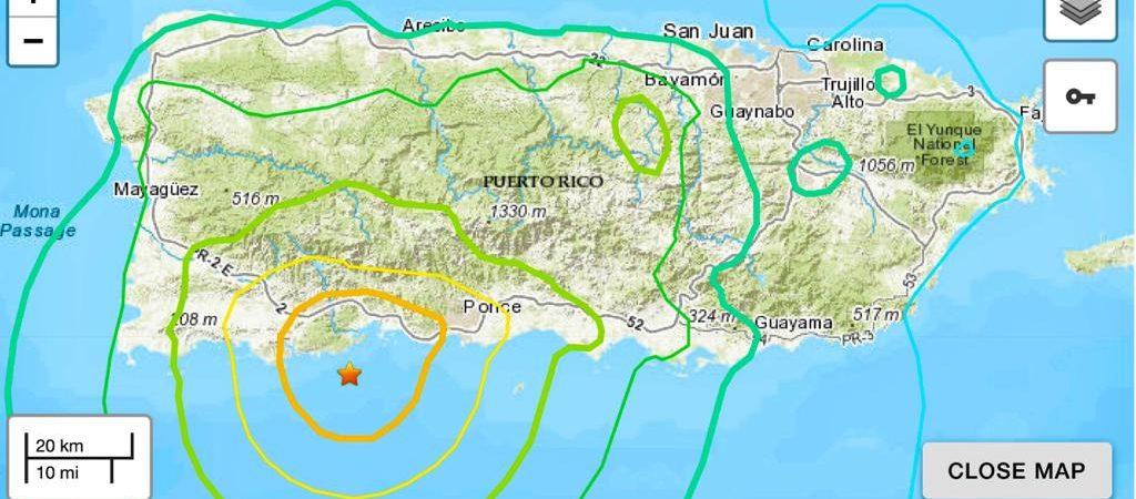 Un sismo de magnitud 6,4 sacude a Puerto Rico en un segundo día de fuertes temblores; hay al menos 1 muerto