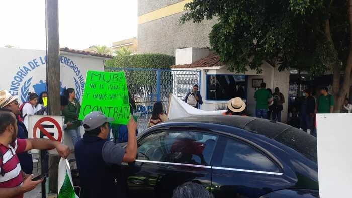 Marcha sindicato Independiente de Salud y se manifiesta en la DDHPO