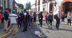 Bloquean trabajadores del SUTTEBCEO para exigir mesa de diálogo