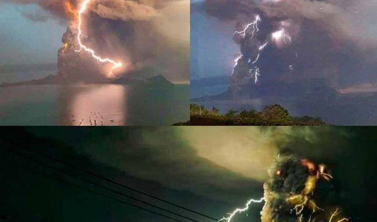 Imágenes impactantes: despierta volcán Taal en Filipinas; hay alerta