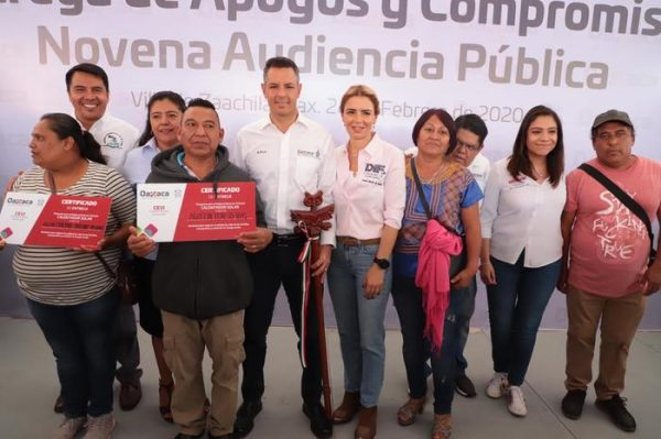 Atiende y responde Alejandro Murat a la ciudadanía  durante la Novena Audiencia Pública