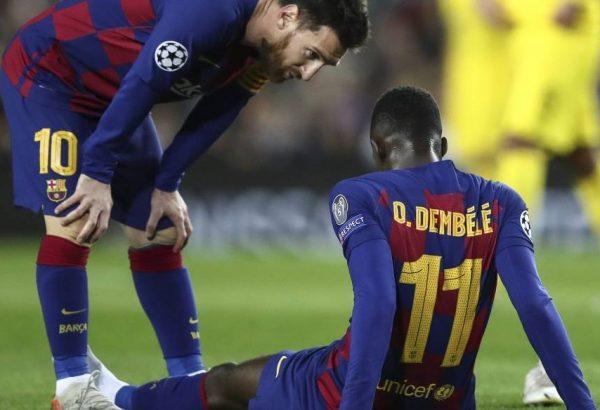 Dembélé se vuelve a lesionar y queda fuera de la temporada