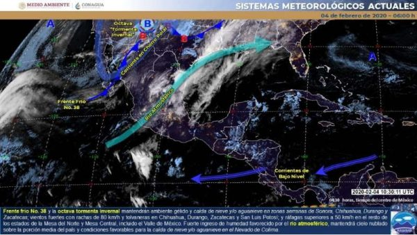 Continuarán bajas temperaturas por frente frío 38: SMN