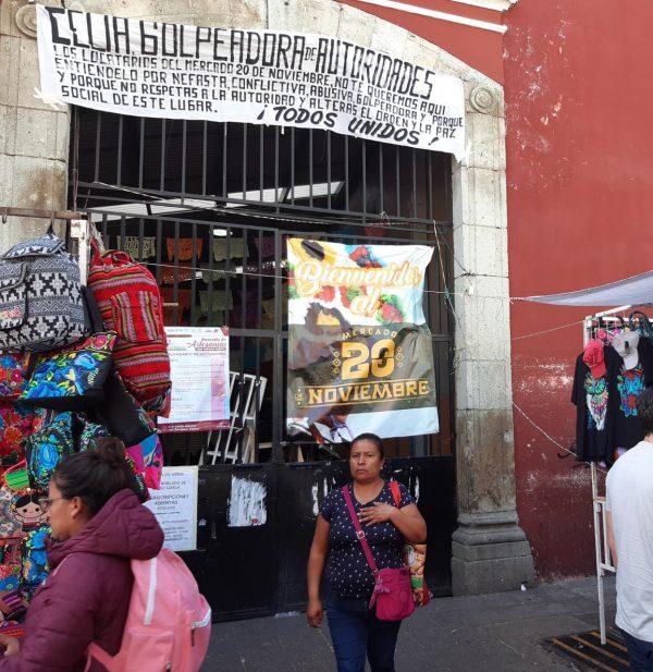 Locatarios cierran emblemático mercado 20 de noviembre en Oaxaca
