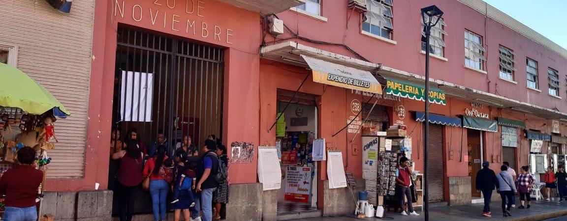 Locatarios del mercado 20 de Noviembre determinan ocupar la calle