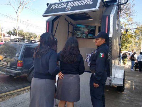Tras marcha de alumnos, instalan módulo de seguridad en CBTis 26