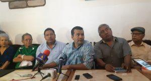Grupo de habitantes de Tlacolula, afirma que no permitirán construcción de escuelas