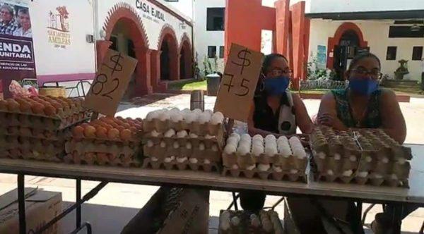 Ofertan productos de la canasta básica a precios accesibles en San Jacinto Amilpas