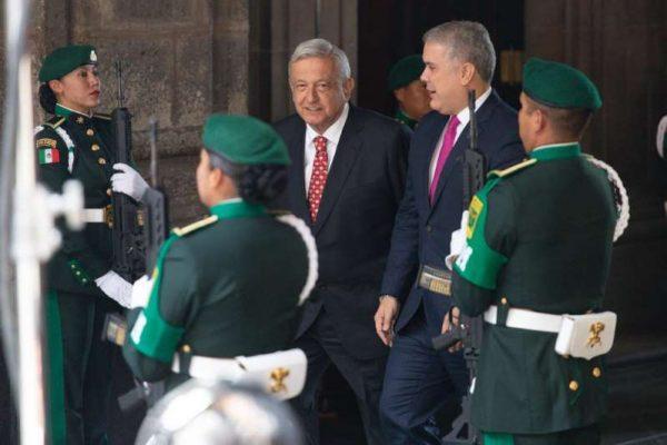 AMLO recibe a Duque en Palacio Nacional