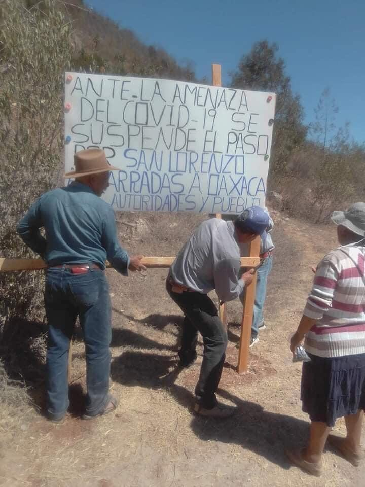 Comunidades de Oaxaca toman medidas para evitar contagios de Covid-19