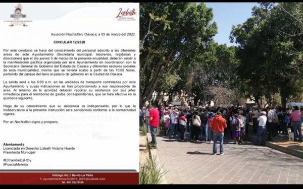Filtran supuesto oficio del ayuntamiento de Nochixtlan para participar en marcha
