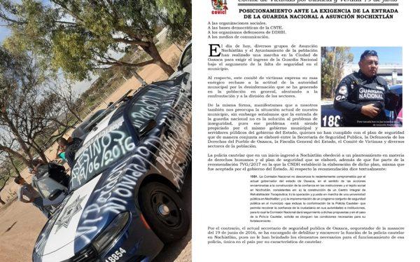 Se deslinda COVIC de vandalismo a patrullas de la Guardia Nacional