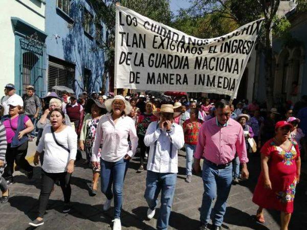 Presidenta de Nochixtlán pide que envíen a la Guardia Nacional