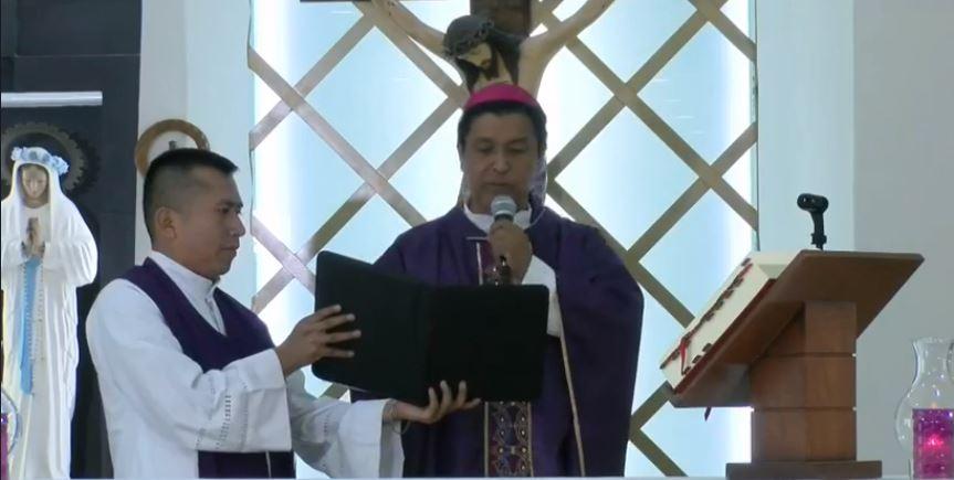 Actividades de semana santa serán a puerta cerrada: Obispo de Tuxtepec