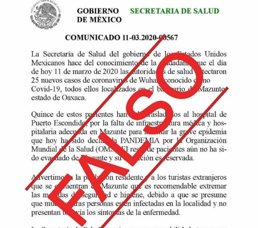 Pide SSO no difundir información falsa sobre COVID-19