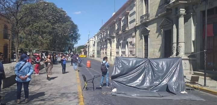 STEUABJO bloquea tres puntos de la ciudad de Oaxaca
