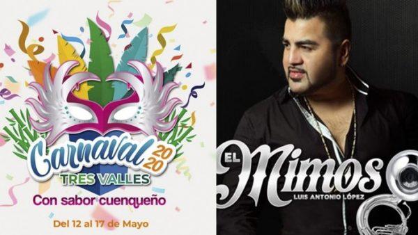 Aquí te decimos la cartelera artística del carnaval de Tres Valles, Veracruz 2020