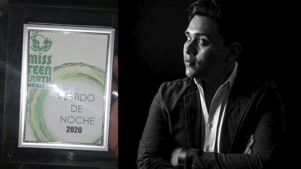 Diseñador tuxtepecano gana reconocimiento en Miss Teen Earth México 2020