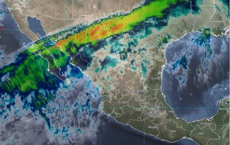 Nuevo frente frío ocasionará lluvias muy fuertes y caída de aguanieve