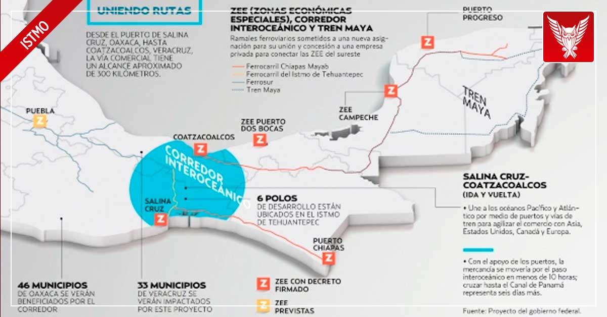 Impacto económico del Corredor Interoceánico del Istmo y el Tren Maya, mayor al del Canal de Panamá