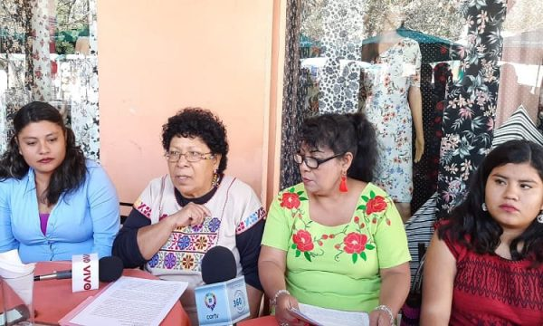 Mujeres de la Asamblea de Pueblos, anuncian marcha y plantón en la CDMX
