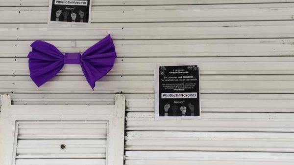 Comercios de Tuxtepec se suman a paro nacional #UnDíaSinNosotras