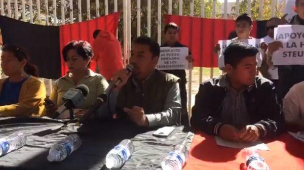 Grupo de supuestos alumnos manifiestan respaldo al STEUABJO