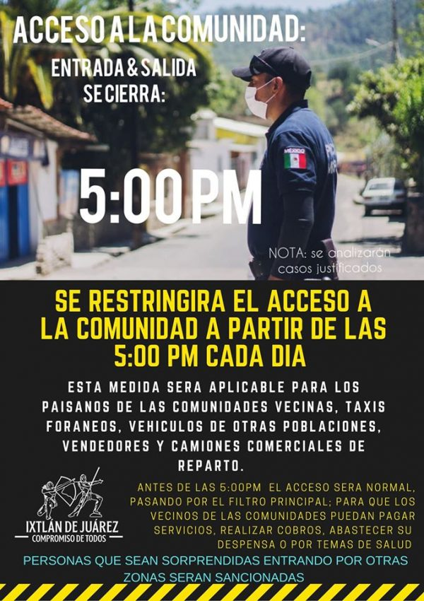 Toque de queda en Ixtlán, por COVID-19