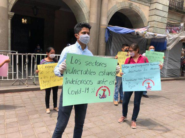 Antorcha Campesina exige al gobierno de Oaxaca apoyar a familias en condición de pobreza ante covid-19