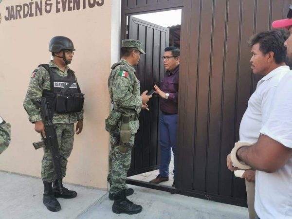 Clausura la GN jardín de eventos en Huatulco, por no cumplir recomendaciones por Covid-19