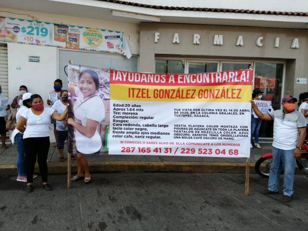 Marchan en Tuxtepec para exigir justicia para Itzel, desaparecida desde el 14 de abril