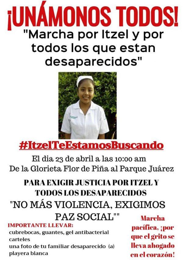 Familiares de Itzel, joven desaparecida, convocan a marcha en #Tuxtepec