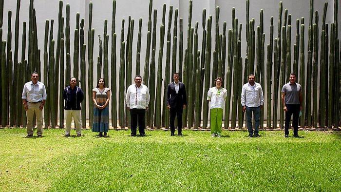 Refrenda Legislativo y Ejecutivo de Oaxaca unidad y compromiso ante contingencia