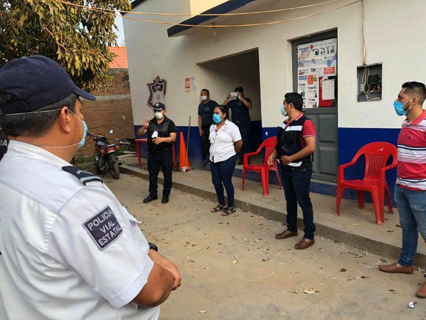 En Tehuantepec realizan operativo de dispersión social, por Covid-19