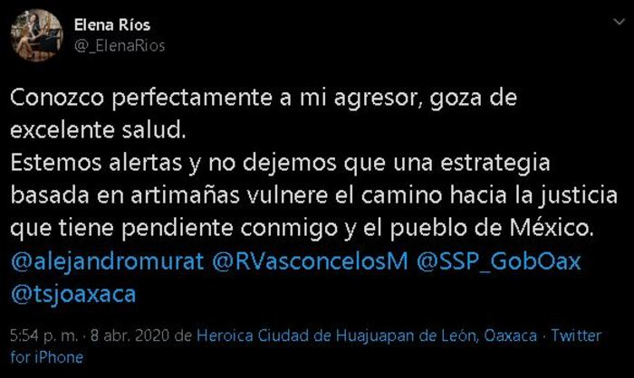 Vera Carrizal goza de excelente salud afirma María Elena, estrategia podría ser artimaña
