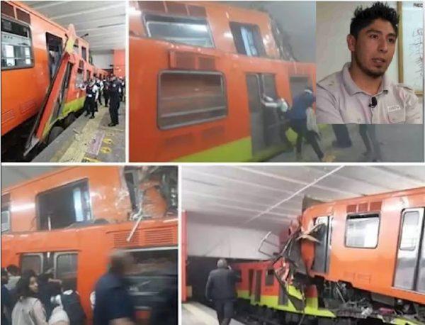 Chofer del Metro da su versión del accidente de trenes