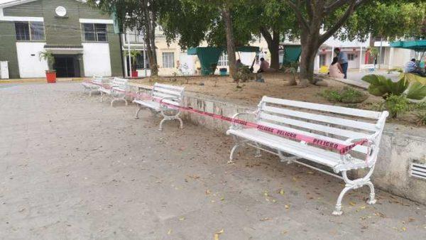 En Tuxtepec, cierran espacios públicos por emergencia sanitaria