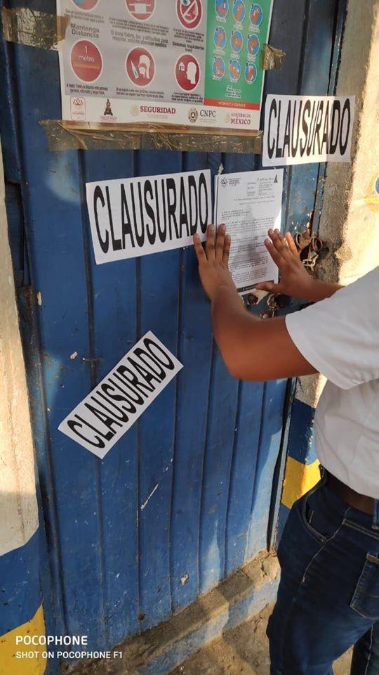En Tehuantepec clausuran cervecerías por no respetan decreto por Covid-19