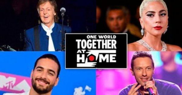 """Anuncian concierto """"Desde casa"""" con Paul McCartney, Elton John, Maluma, Lady Gaga y muchos artistas más"""