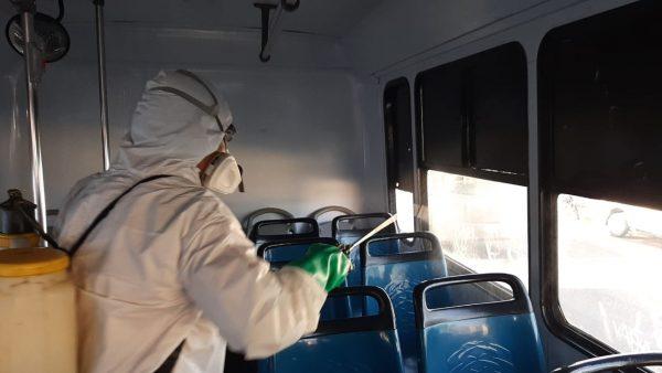 A la espera de que en Tuxtepec, también desinfecten unidades de transporte público
