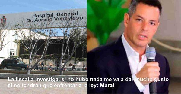La Fiscalía investiga, si no hay nada me va a dar mucho gusto, si no, tendrán que enfrentar a la ley: Murat