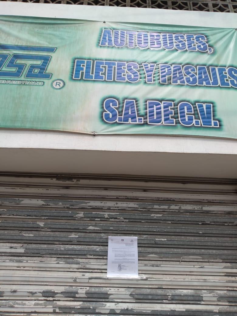 En Huajuapan notifican a terminales de autobuses para cierre temporal