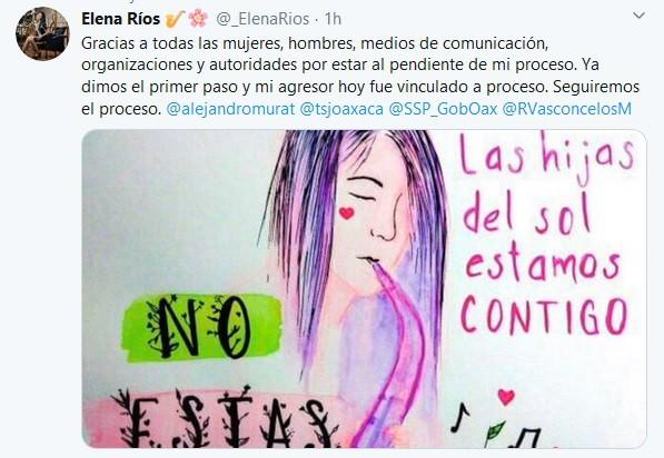 Dimos el primer paso, dice María Elena Ríos, tras vinculación de Vera Carrizal.