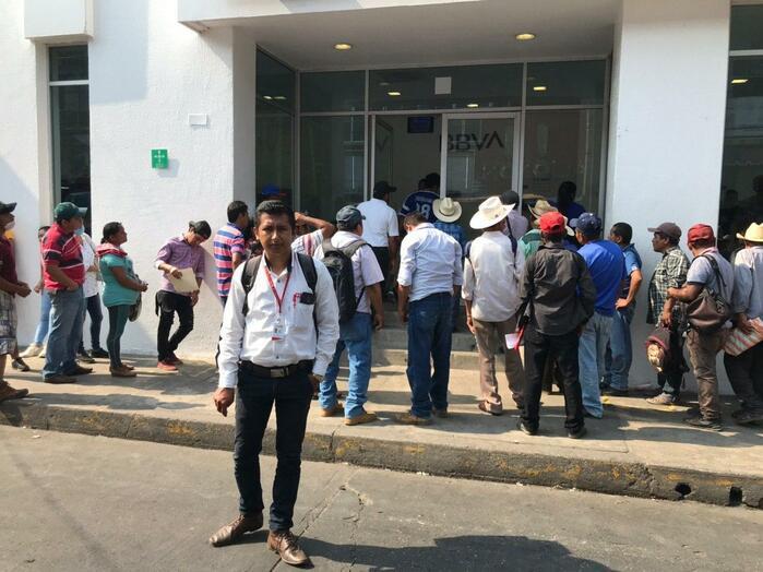Reforzarán operativo sana distancia en sucursal bancomer de Tuxtepec