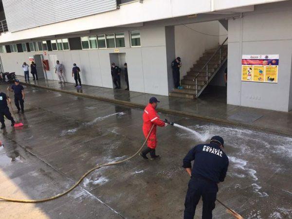 Realizan labores de sanitización de cuarteles policíacos ante Covid-19 en Oaxaca
