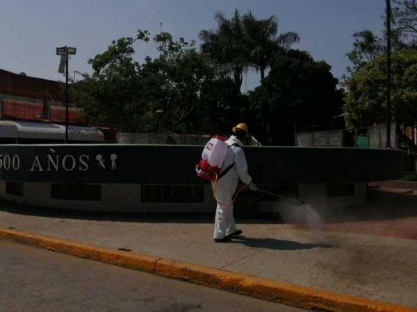 CEPCO y gobierno de Zaachila sanitizan espacios públicos