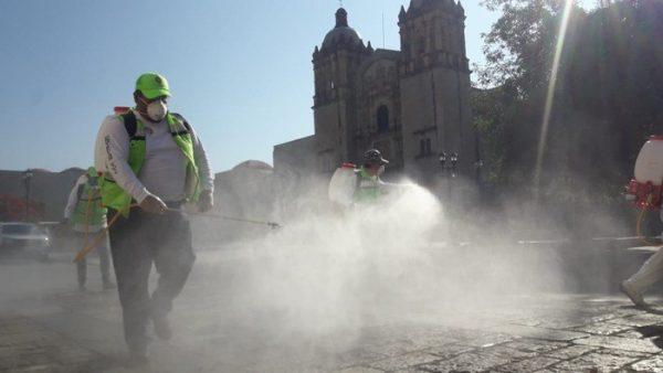 Refuerza CEPCO acciones de sanitización en municipios con COVID-19