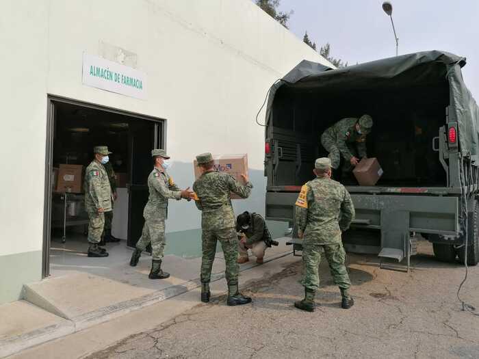 Llegan a Oaxaca 6.5 toneladas de insumos médicos para enfrentar pandemia